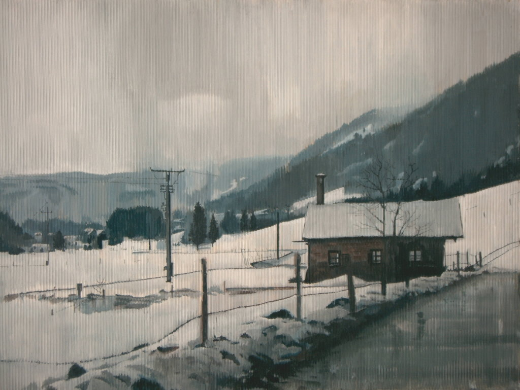 Winter 3 Acryl Wellkarton 160 x 110 cm